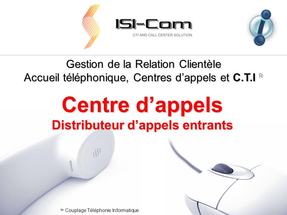 Gestion de la Relation Clientèle Accueil téléphonique, Centres dappels et C.T.I Gestion de la Relation Clientèle Accueil téléphonique, Centres dappels