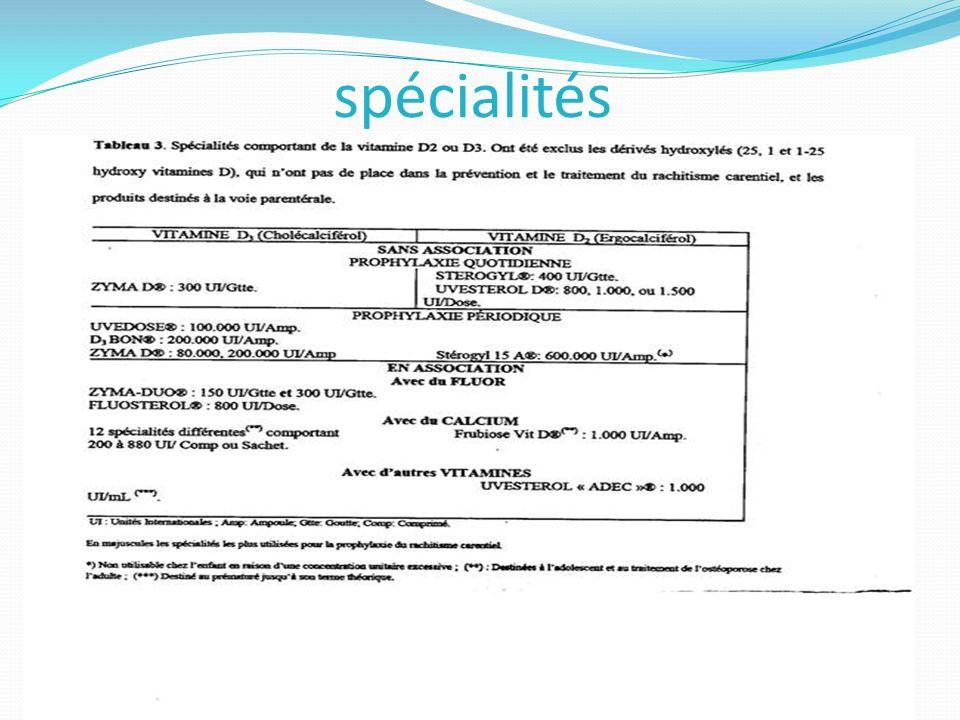 spécialités