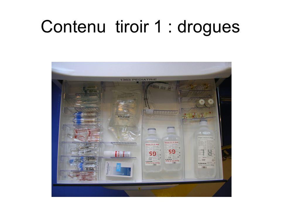 Contenu tiroir 1 : drogues