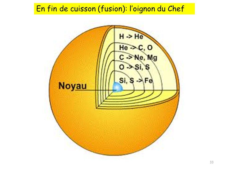 33 En fin de cuisson (fusion): loignon du Chef