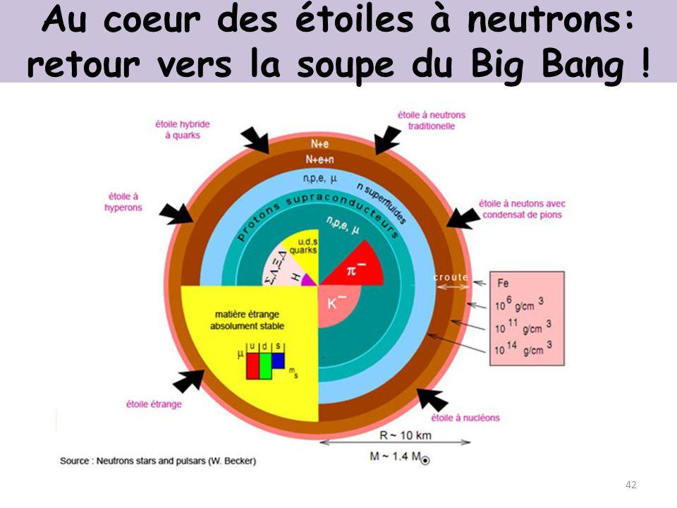 Au coeur des étoiles à neutrons: retour vers la soupe du Big Bang ! 42