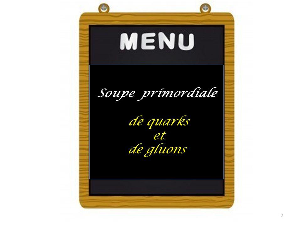 Soupe primordiale de quarks et de gluons Soupe primordiale de quarks et de gluons 7