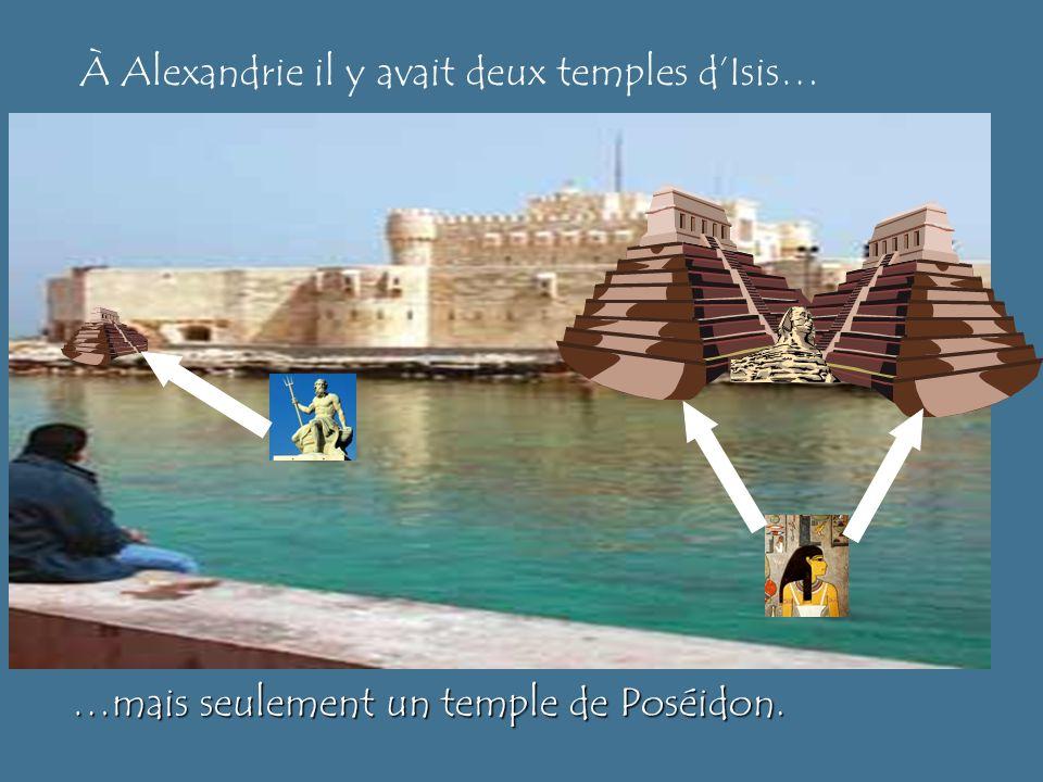 En regardent cette photo…nous nous sommes demandés: Pourquoi y a-t-il un sphinx sous leau?! Voici notre….uhh….explication….