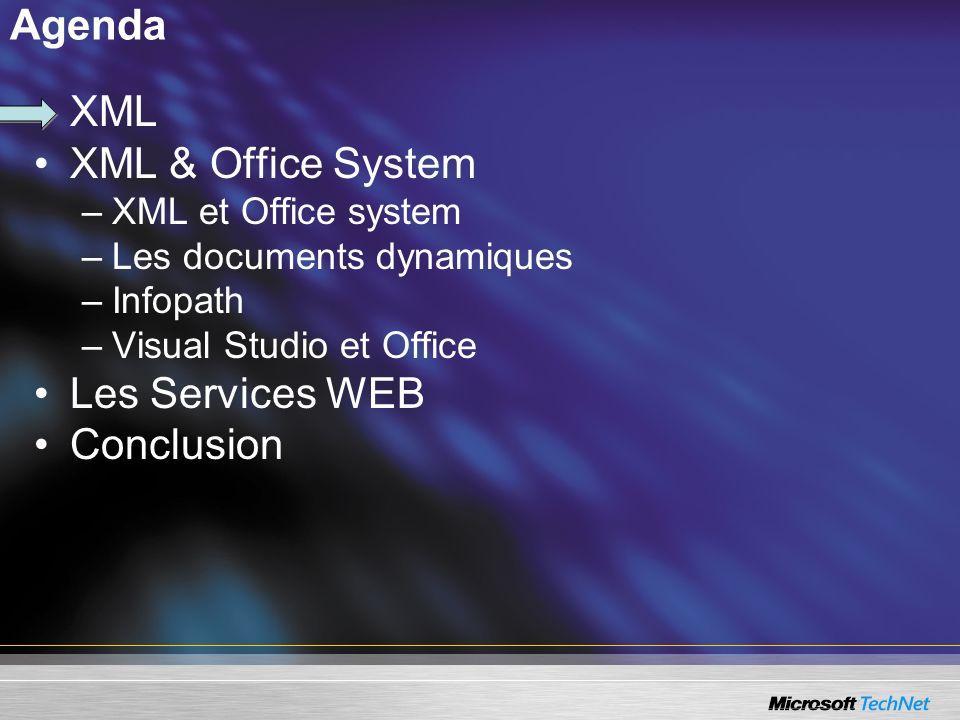 Synthèse de Visual Studio Etend le développement.NET à Office : –Création de solutions centrées documents autour de Word et Excel 2003, avec du code managé.