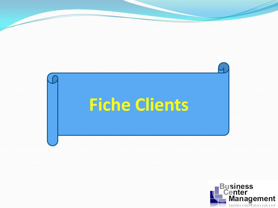 Fiche Clients