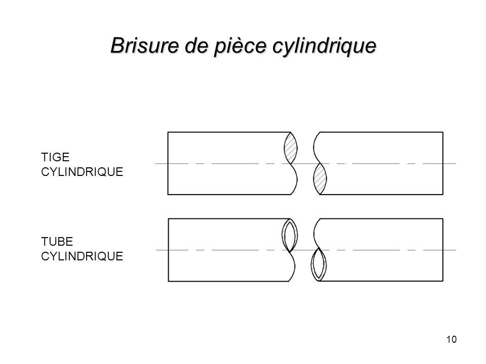 10 Brisure de pièce cylindrique TIGE CYLINDRIQUE TUBE CYLINDRIQUE