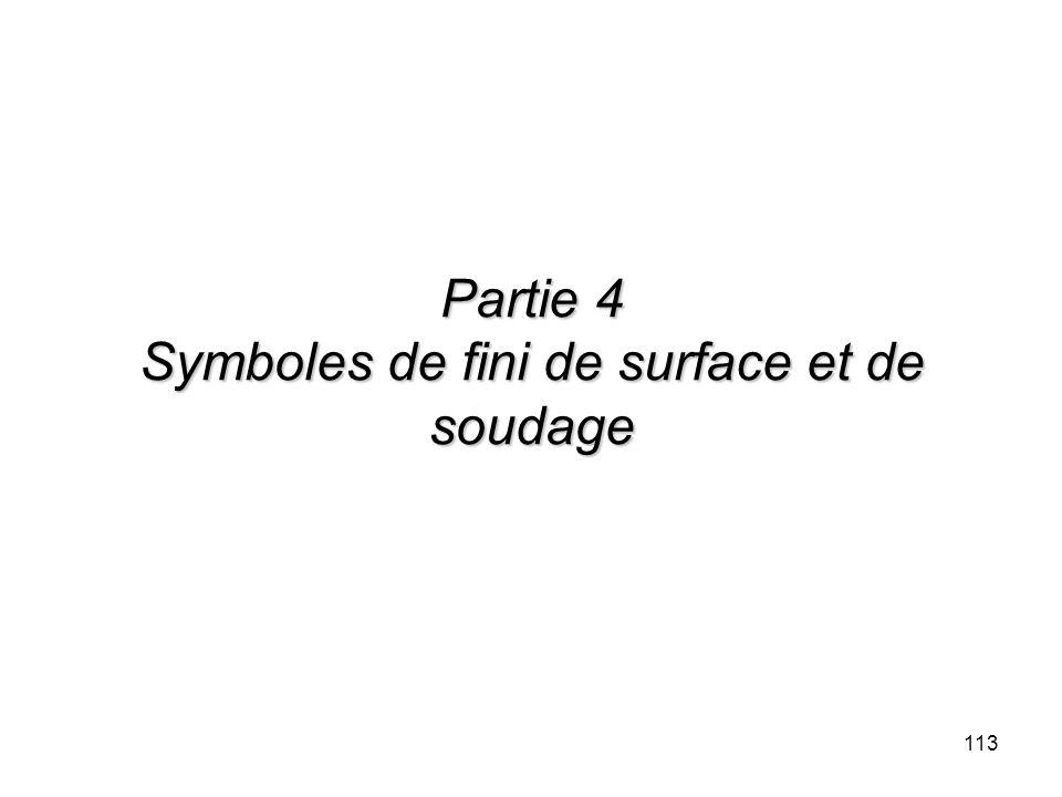 113 Partie 4 Symboles de fini de surface et de soudage