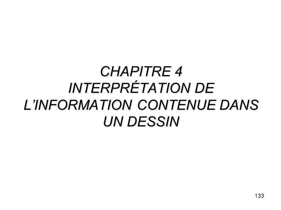 133 CHAPITRE 4 INTERPRÉTATION DE LINFORMATION CONTENUE DANS UN DESSIN