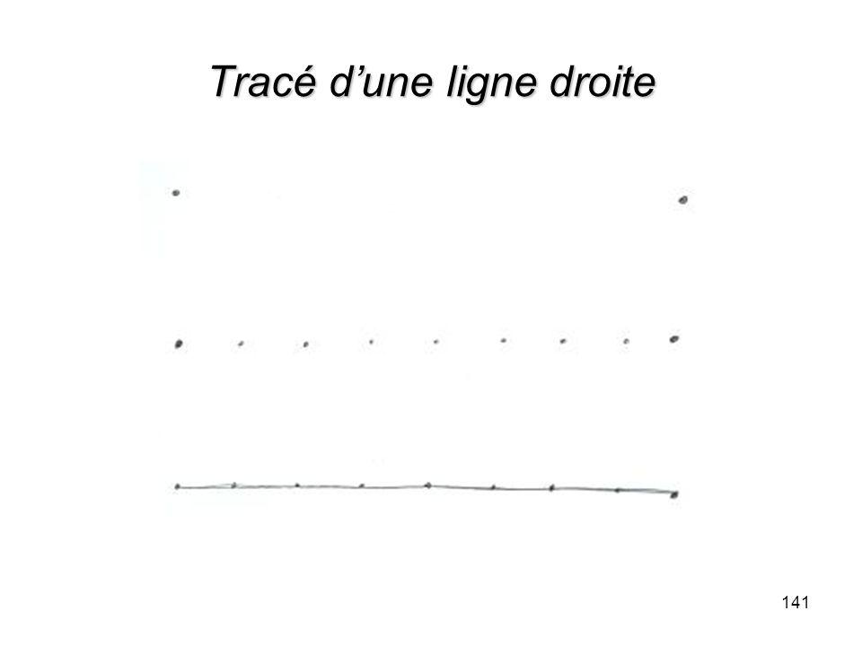 Tracé dune ligne droite 141