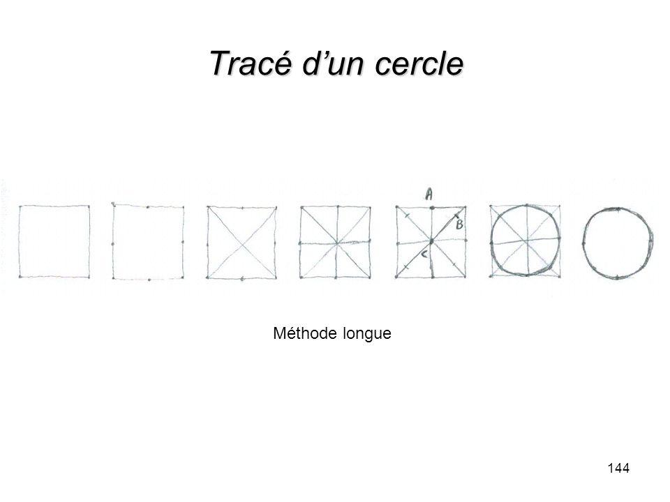 Tracé dun cercle 144 Méthode longue