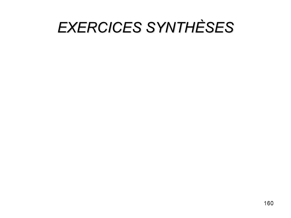 EXERCICES SYNTHÈSES 160