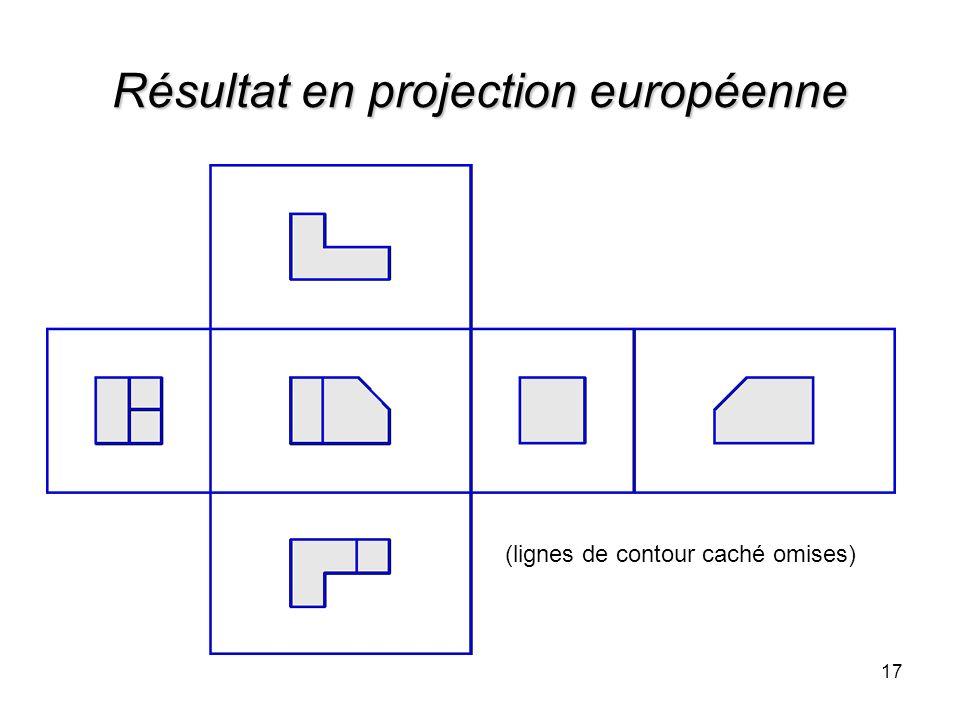 Résultat en projection européenne 17 (lignes de contour caché omises)
