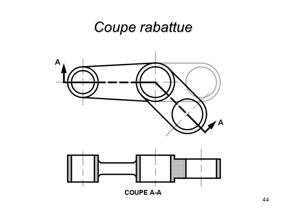 Coupe rabattue 44