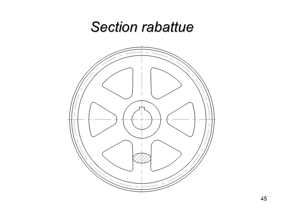 Section rabattue 45