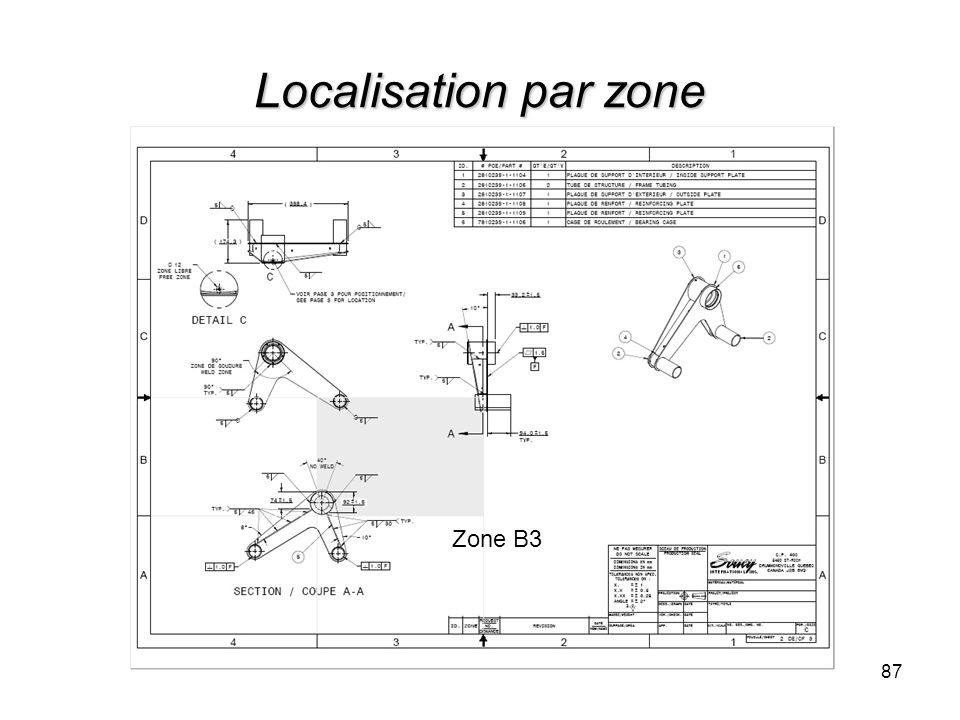 Localisation par zone 87 Zone B3