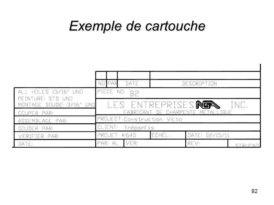 Exemple de cartouche 92