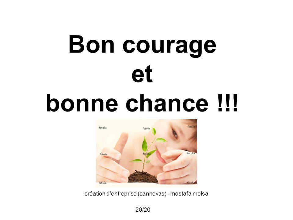création d'entreprise (cannevas) - mostafa melsa 20/20 Bon courage et bonne chance !!!