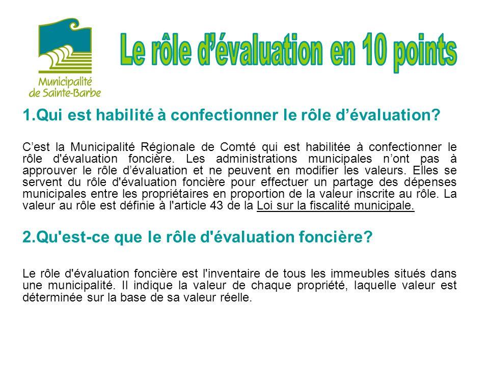 1.Qui est habilité à confectionner le rôle dévaluation.