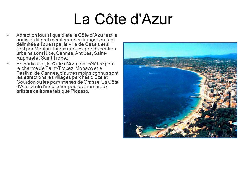 Cannes Cannes est un Authentique village méridional au patrimoine riche et varié, somptueuse cité contemporaine avec une mention spéciale pour le luxe et le glamour, remparts, le musée de la Castre, la tour carrée et les bâtiments religieux.