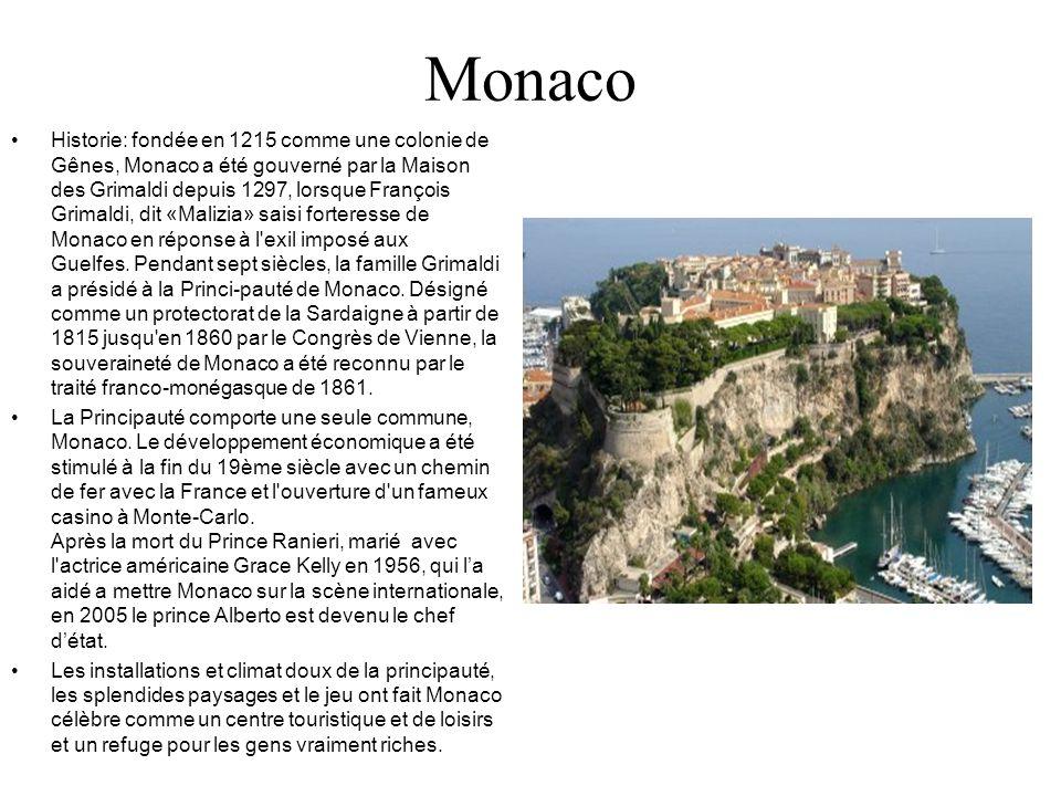 Monaco Historie: fondée en 1215 comme une colonie de Gênes, Monaco a été gouverné par la Maison des Grimaldi depuis 1297, lorsque François Grimaldi, d