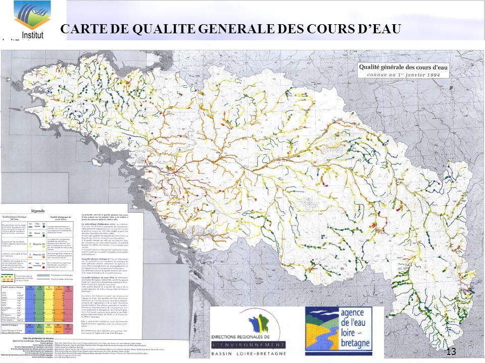 13 CARTE DE QUALITE GENERALE DES COURS DEAU
