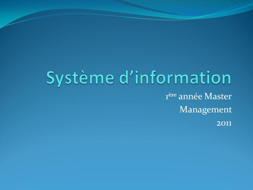 1 ère année Master Management 2011