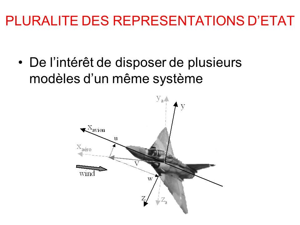PLURALITE DES REPRESENTATIONS DETAT De lintérêt de disposer de plusieurs modèles dun même système