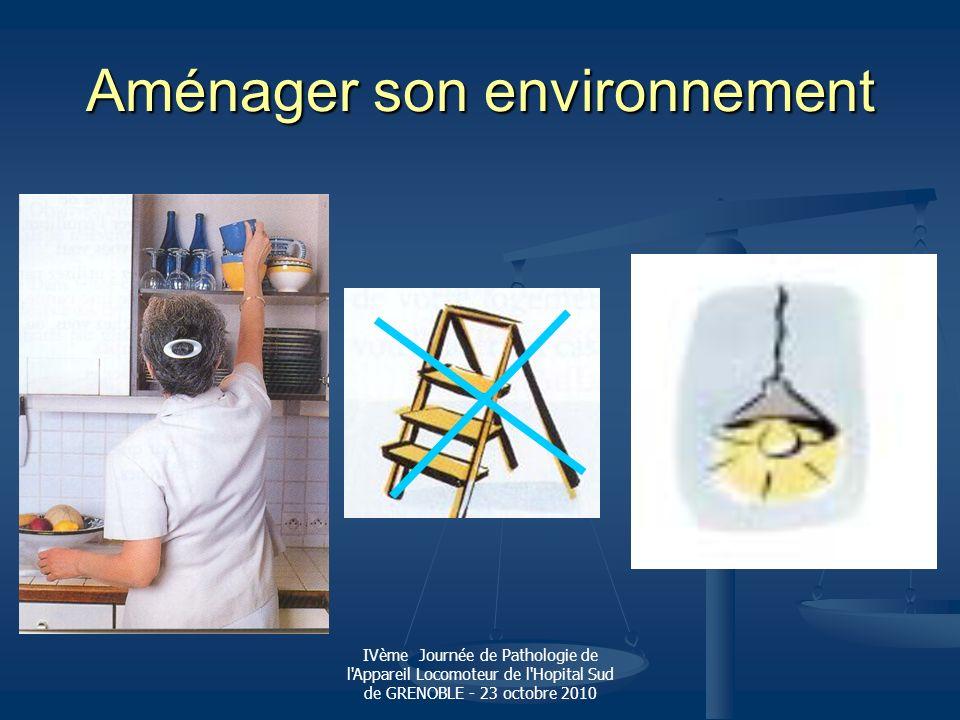 IVème Journée de Pathologie de l'Appareil Locomoteur de l'Hopital Sud de GRENOBLE - 23 octobre 2010 Aménager son environnement