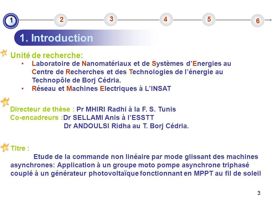 3 Unité de recherche: Directeur de thèse : Pr MHIRI Radhi à la F. S. Tunis Co-encadreurs :Dr SELLAMI Anis à lESSTT Dr ANDOULSI Ridha au T. Borj Cédria