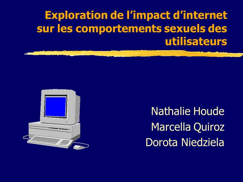 Exploration de limpact dinternet sur les comportements sexuels des utilisateurs Nathalie Houde Marcella Quiroz Dorota Niedziela