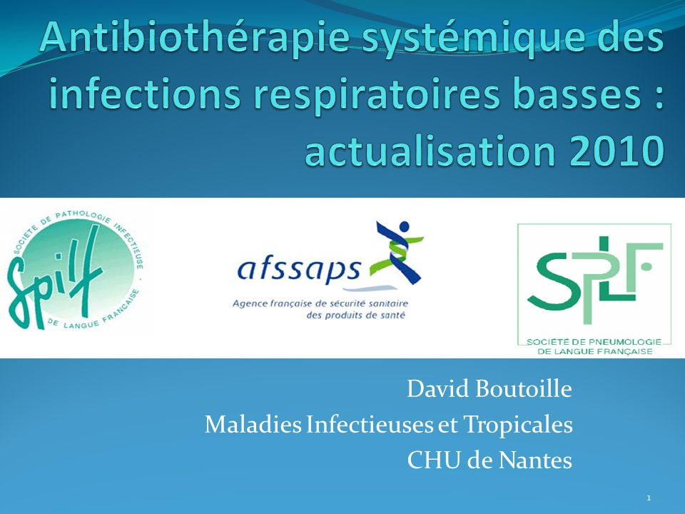 David Boutoille Maladies Infectieuses et Tropicales CHU de Nantes 1