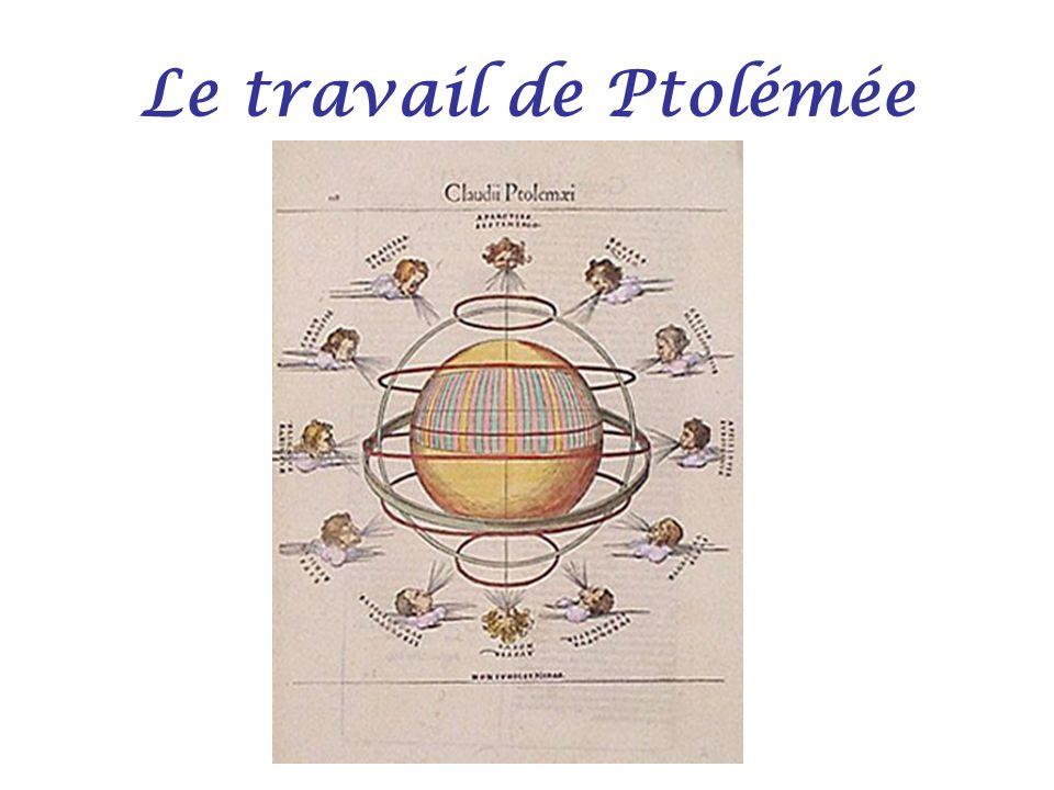 Le travail de Ptolémée