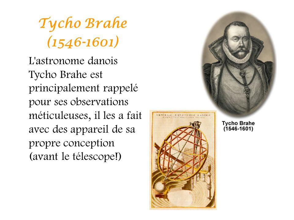 Tycho Brahe (1546-1601) L'astronome danois Tycho Brahe est principalement rappelé pour ses observations méticuleuses, il les a fait avec des appareil