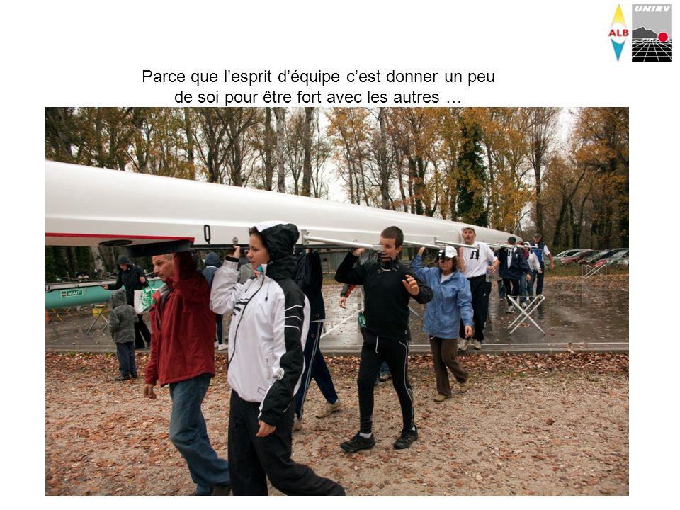 Parce que lesprit déquipe cest sassurer que tout le monde monte à bord en même temps sans mettre en péril léquilibre de lembarcation…