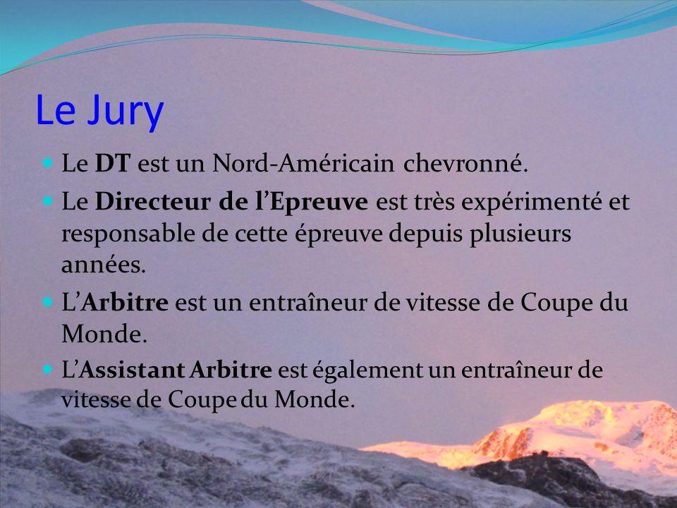 Le Jury Le DT est un Nord-Américain chevronné.