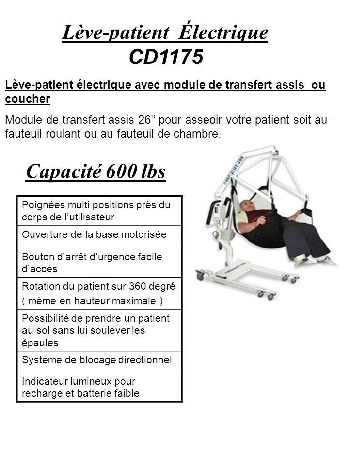 Lève-patient Électrique CD1175 Lève-patient électrique avec module de transfert assis ou coucher Module de transfert assis 26 pour asseoir votre patie