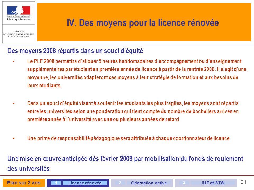 21 Des moyens 2008 répartis dans un souci déquité Le PLF 2008 permettra dallouer 5 heures hebdomadaires daccompagnement ou denseignement supplémentair
