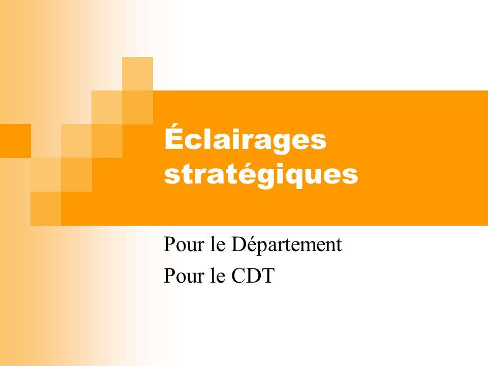 Éclairages stratégiques Pour le Département Pour le CDT
