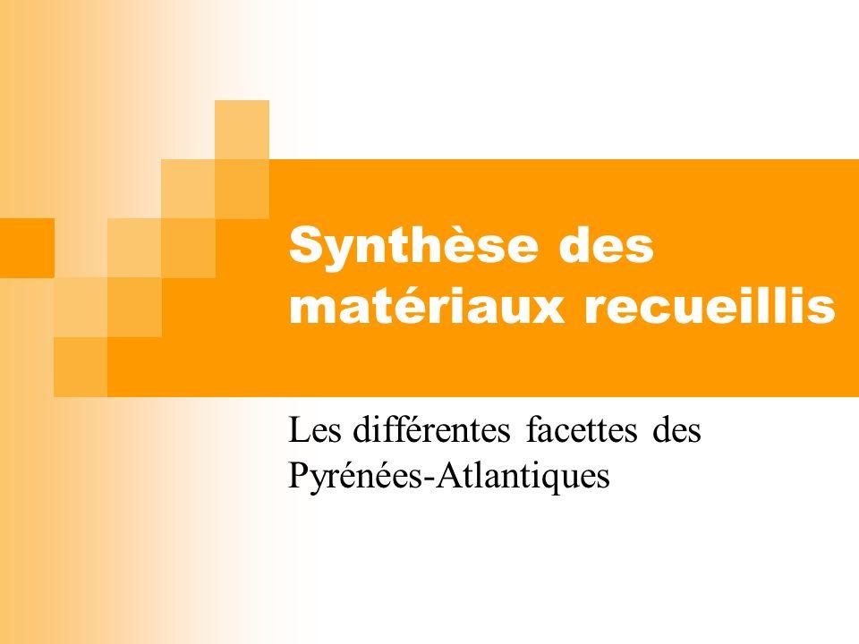 Synthèse des matériaux recueillis Les différentes facettes des Pyrénées-Atlantiques