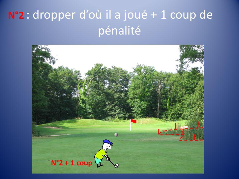 : dropper doù il a joué + 1 coup de pénalité N°2 N°2 + 1 coup