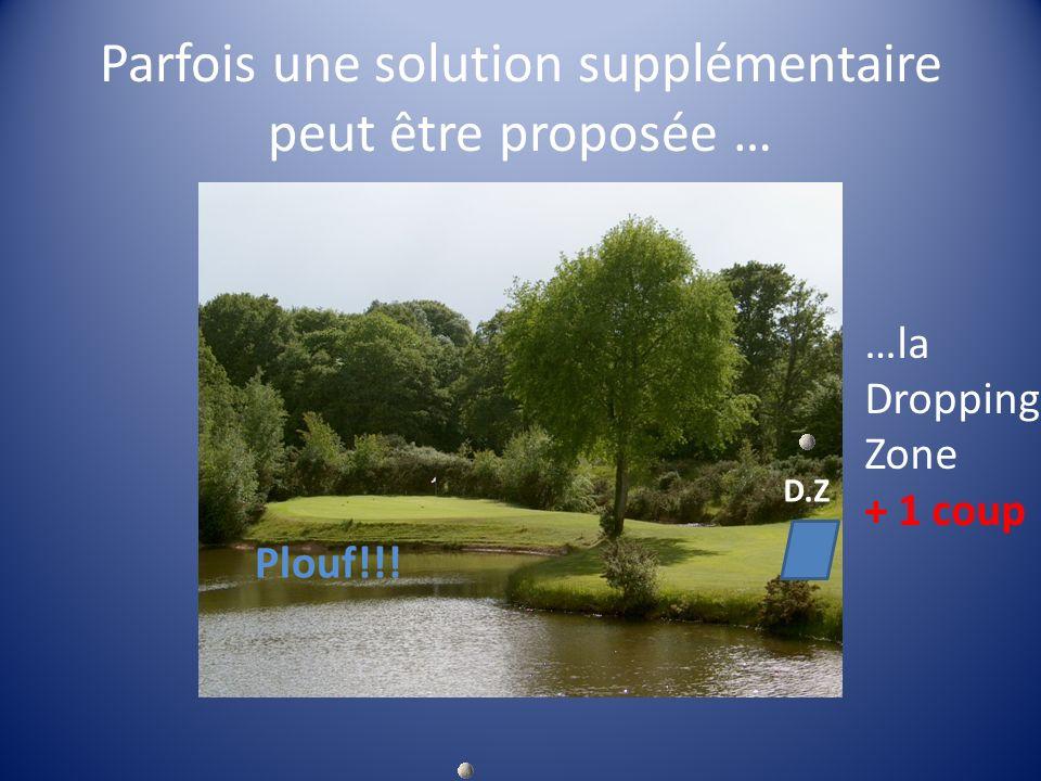 Parfois une solution supplémentaire peut être proposée … D.Z Plouf!!! …la Dropping Zone + 1 coup