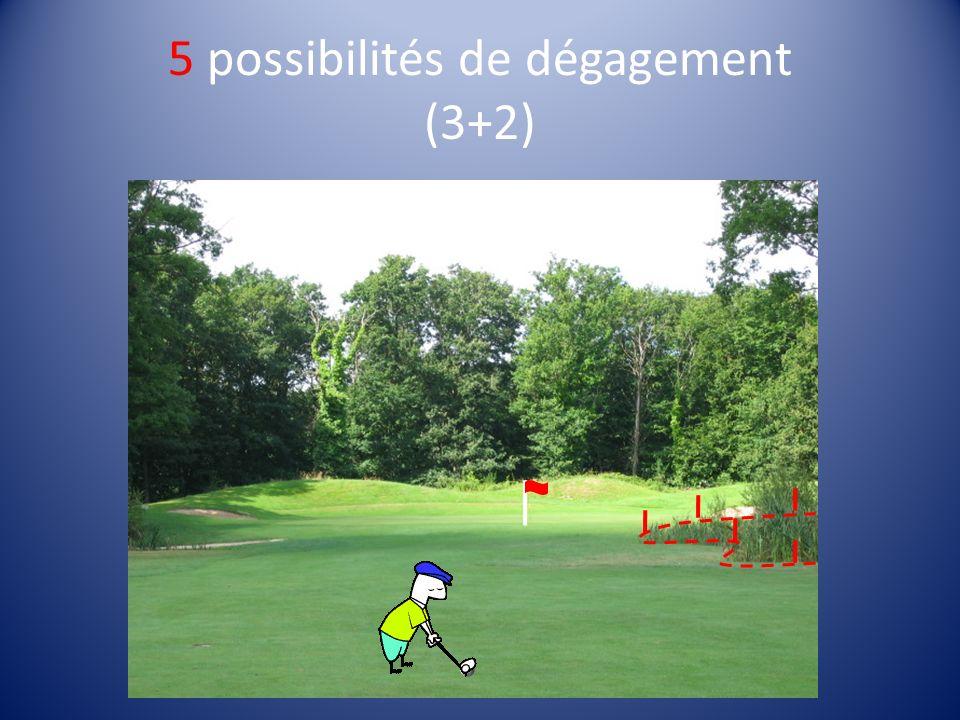 5 possibilités de dégagement (3+2)