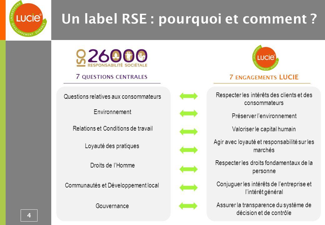 (1) Evaluation de suivi par VIGEO ou AFNOR Certification à échéance 18 mois : vérification de la mise en œuvre des engagements et du maintien de la dynamique de projet RSE (2) Evaluation de renouvellement par VIGEO ou AFNOR Certification à échéance 36 mois : vérification de la réalisation des engagements pris; nouvelle évaluation complète de lentreprise et définition de nouveaux engagements de progrès 5 Un label RSE : pourquoi et comment ?