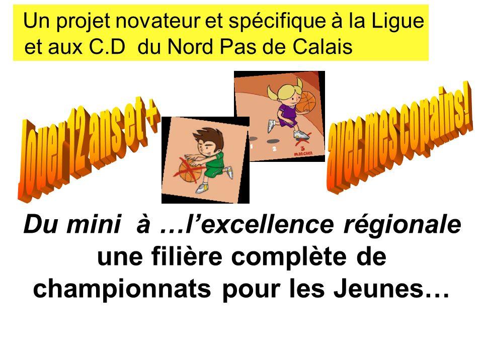 Du mini à …lexcellence régionale une filière complète de championnats pour les Jeunes… Un projet novateur et spécifique à la Ligue et aux C.D du Nord Pas de Calais