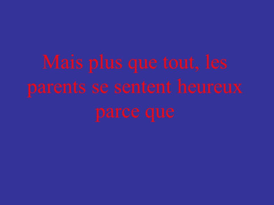 En élevant leurs enfants, les parents… Samusent Sennuient Simpatientent Sénervent Sinquiètent Se mettent en colère Se fâchent Se sentent tristes