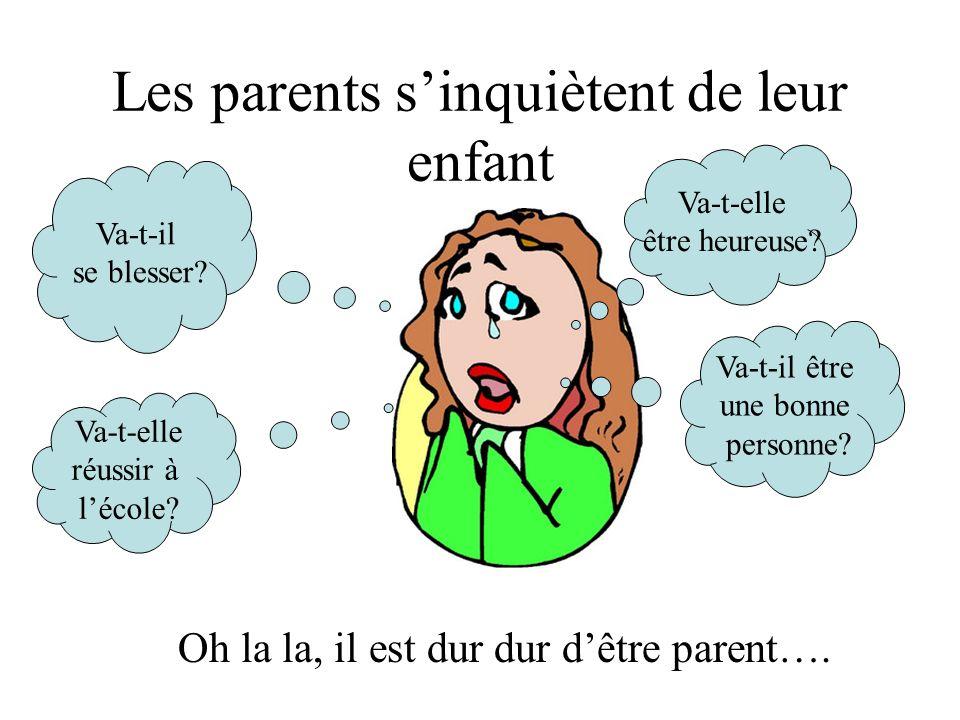 Les parents sinquiètent de leur enfant Va-t-il se blesser.