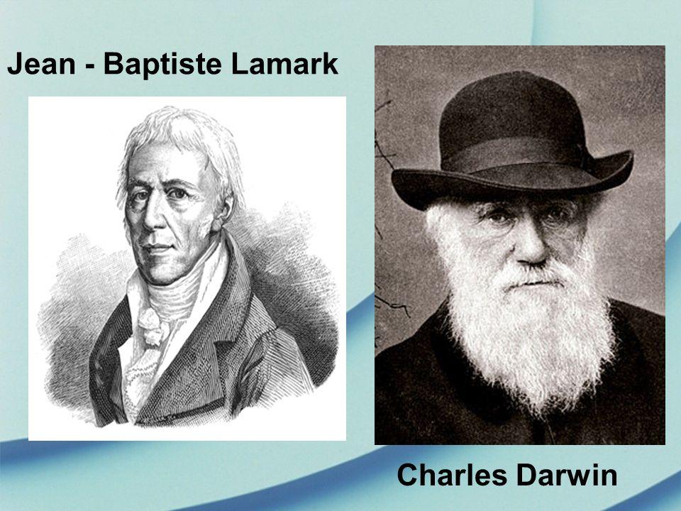 Jean - Baptiste Lamark Charles Darwin
