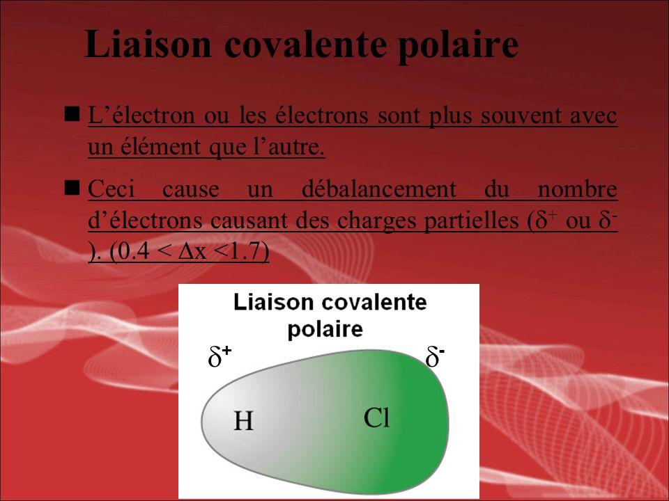 Quel type de liaison sera formé lorsque ces deux éléments ou groupes déléments suniront.