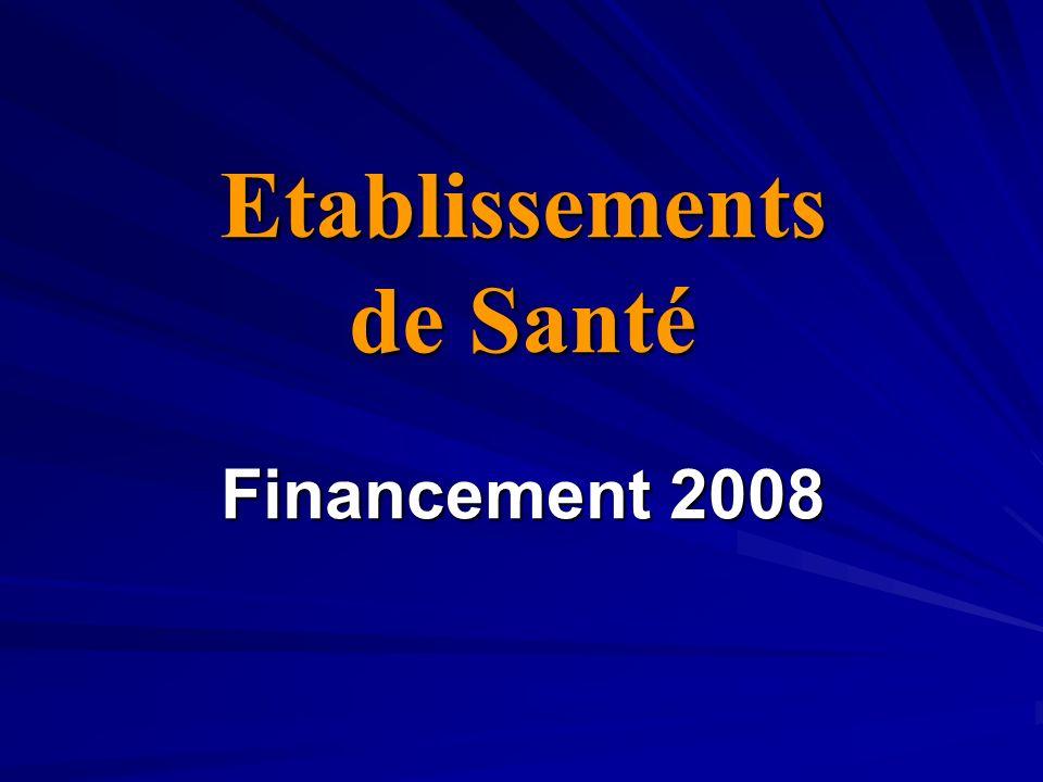 Etablissements de Santé Financement 2008