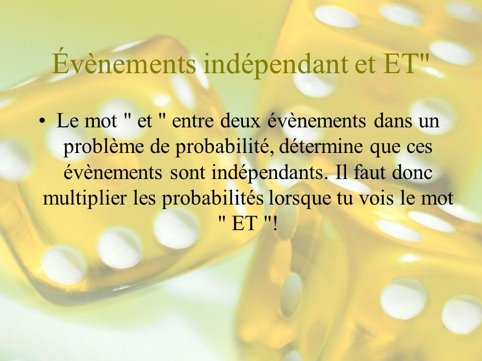 Évènements indépendant et ET